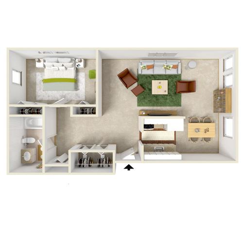eastway manor one bedroom floor plan